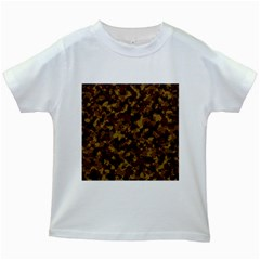Camouflage Tarn Forest Texture Kids White T-Shirts