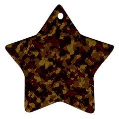 Camouflage Tarn Forest Texture Star Ornament (Two Sides)