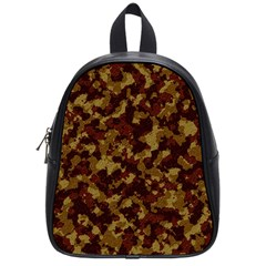 Camouflage Tarn Forest Texture School Bags (Small)