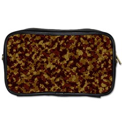 Camouflage Tarn Forest Texture Toiletries Bags 2 Side