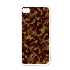 Camouflage Tarn Forest Texture Apple iPhone 4 Case (White)