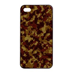 Camouflage Tarn Forest Texture Apple Iphone 4/4s Seamless Case (black)