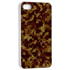 Camouflage Tarn Forest Texture Apple iPhone 4/4s Seamless Case (White)