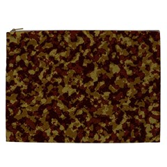 Camouflage Tarn Forest Texture Cosmetic Bag (XXL)