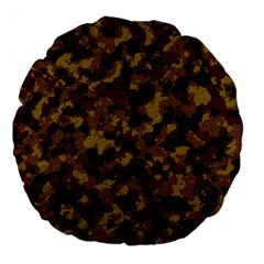 Camouflage Tarn Forest Texture Large 18  Premium Round Cushions