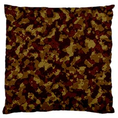 Camouflage Tarn Forest Texture Large Flano Cushion Case (One Side)