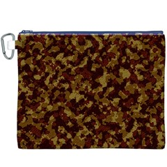 Camouflage Tarn Forest Texture Canvas Cosmetic Bag (XXXL)