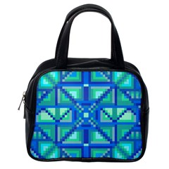Grid Geometric Pattern Colorful Classic Handbags (One Side)