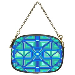 Grid Geometric Pattern Colorful Chain Purses (two Sides)