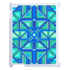 Grid Geometric Pattern Colorful Apple iPad 2 Case (White)