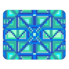 Grid Geometric Pattern Colorful Double Sided Flano Blanket (Large)