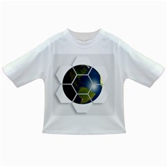 Hexagon Diamond Earth Globe Infant/Toddler T-Shirts