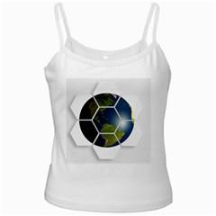 Hexagon Diamond Earth Globe Ladies Camisoles