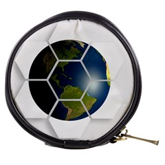 Hexagon Diamond Earth Globe Mini Makeup Bags