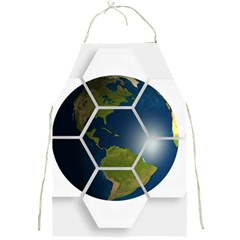 Hexagon Diamond Earth Globe Full Print Aprons