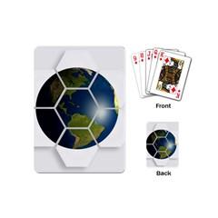 Hexagon Diamond Earth Globe Playing Cards (mini)
