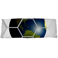 Hexagon Diamond Earth Globe Body Pillow Case Dakimakura (two Sides)