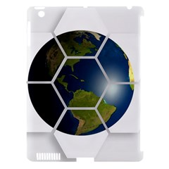 Hexagon Diamond Earth Globe Apple Ipad 3/4 Hardshell Case (compatible With Smart Cover)