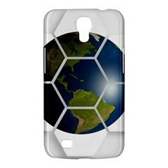 Hexagon Diamond Earth Globe Samsung Galaxy Mega 6.3  I9200 Hardshell Case