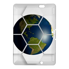Hexagon Diamond Earth Globe Kindle Fire Hdx 8 9  Hardshell Case