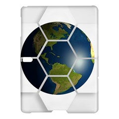 Hexagon Diamond Earth Globe Samsung Galaxy Tab S (10 5 ) Hardshell Case