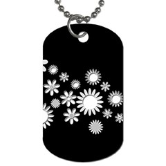Flower Power Flowers Ornament Dog Tag (Two Sides)