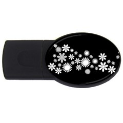 Flower Power Flowers Ornament USB Flash Drive Oval (2 GB)
