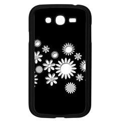 Flower Power Flowers Ornament Samsung Galaxy Grand DUOS I9082 Case (Black)