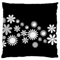 Flower Power Flowers Ornament Large Flano Cushion Case (Two Sides)