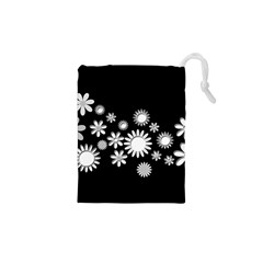 Flower Power Flowers Ornament Drawstring Pouches (XS)