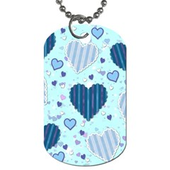 Hearts Pattern Paper Wallpaper Dog Tag (one Side)