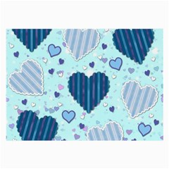 Hearts Pattern Paper Wallpaper Large Glasses Cloth (2-Side)