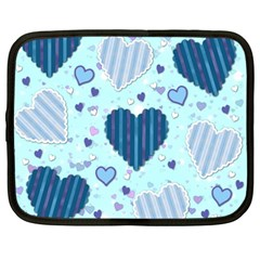 Hearts Pattern Paper Wallpaper Netbook Case (Large)