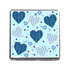 Hearts Pattern Paper Wallpaper Memory Card Reader (Square)