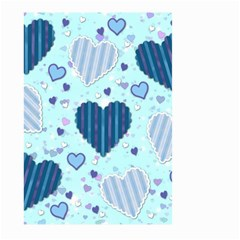 Hearts Pattern Paper Wallpaper Large Garden Flag (Two Sides)