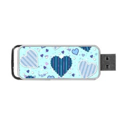 Hearts Pattern Paper Wallpaper Portable USB Flash (Two Sides)