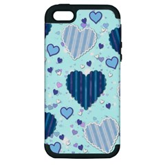 Hearts Pattern Paper Wallpaper Apple iPhone 5 Hardshell Case (PC+Silicone)