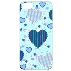 Hearts Pattern Paper Wallpaper Apple iPhone 5 Classic Hardshell Case