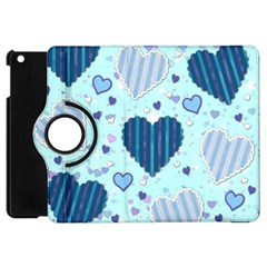 Hearts Pattern Paper Wallpaper Apple iPad Mini Flip 360 Case
