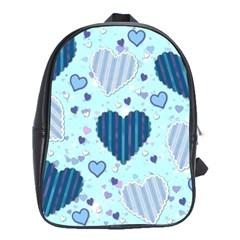 Hearts Pattern Paper Wallpaper School Bags (xl)