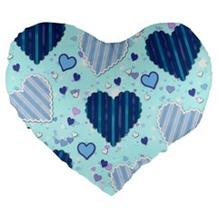 Hearts Pattern Paper Wallpaper Large 19  Premium Heart Shape Cushions