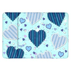 Hearts Pattern Paper Wallpaper Samsung Galaxy Tab 8.9  P7300 Flip Case