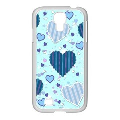 Hearts Pattern Paper Wallpaper Samsung Galaxy S4 I9500/ I9505 Case (white)