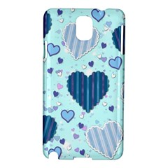 Hearts Pattern Paper Wallpaper Samsung Galaxy Note 3 N9005 Hardshell Case