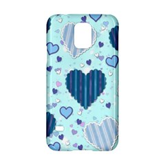 Hearts Pattern Paper Wallpaper Samsung Galaxy S5 Hardshell Case