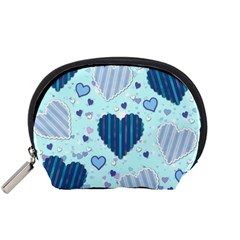 Hearts Pattern Paper Wallpaper Accessory Pouches (Small)