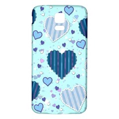 Hearts Pattern Paper Wallpaper Samsung Galaxy S5 Back Case (White)