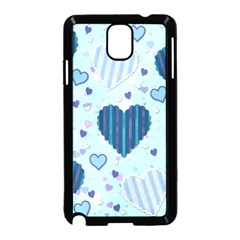 Hearts Pattern Paper Wallpaper Samsung Galaxy Note 3 Neo Hardshell Case (black)