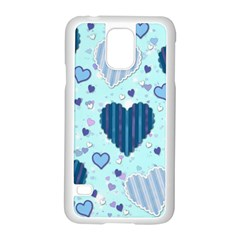 Hearts Pattern Paper Wallpaper Samsung Galaxy S5 Case (white)