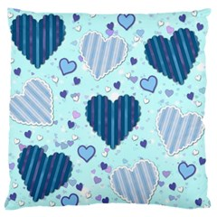Hearts Pattern Paper Wallpaper Large Flano Cushion Case (one Side)